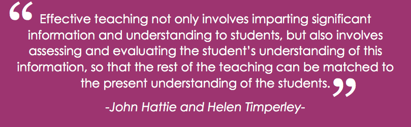 Hattie and Timperley Quote